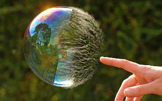 Was this bubble blown with gin?