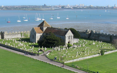 The Portchester Castle Church where it's rumoured that pagan sacrifices continue to this day