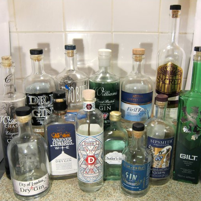 Craft Gins bottle selection