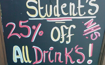 student's 25% off