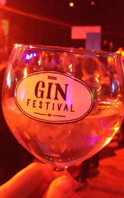 The first G&T of the night in our Gin Festival glass!