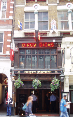 Dirty Dick's pub at Bishopsgate has existed more more than 200 years