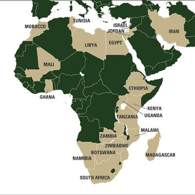 africa map quinine