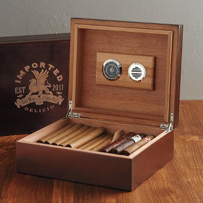 We all know they're bad for your health, but enjoying a cigar and a cocktail is a basic human right for all dads. A humidor can sit on top of the bar and keep the tobacco as fresh as the cocktails.