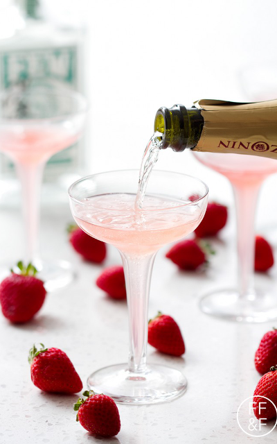 Add English sparkling wine instead and you'll have the most patriotic drink at the Championship. image credit: Food, Fashion and Fun