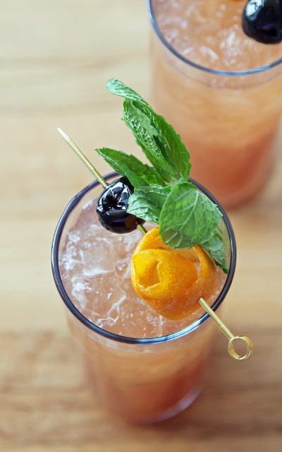 Another classic gin cocktail, ramp up the doses of each ingredient, throw it in a pitcher, and have a swinging summer cocktail party dressed in Prohibition clothing.
