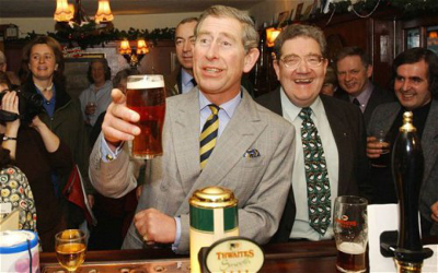 Have the Royal's begun buying their ale in supermarkets too?