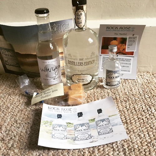 Rock Rose's Craft Gin Club Members' exclusive Distiller's Edition, August 2015's Gin of the Month. Thanks to Club Member Helen Grimshaw for this delicious pic!