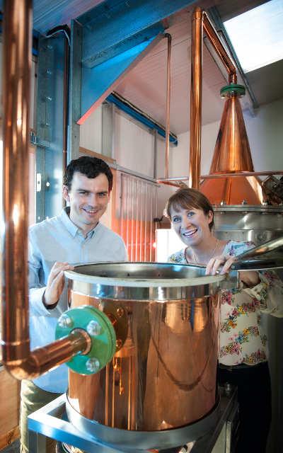 Martin and Claire Murray with their still, Elizabeth