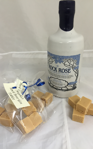rock rose gin fudge