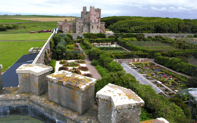Originally built in the 1500s, the Castle of Mey became a royal residence when Queen Elizabeth the Queen Mother saved it from despair in 1952 not long after the death of her husband, King George VI. The Queen Mother would summer at the castle, a practice adopted by her grandson, Prince Charles, Duke of Rothesay, who stays at the castle with the Duchess of Rothesay the last week of July or first week of August when Castle Mey, which is now open to the public, closes for ten days.