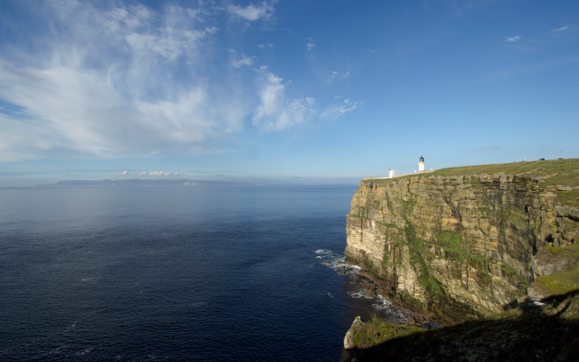 Dunnet Head looking out onto the Orkney Islands