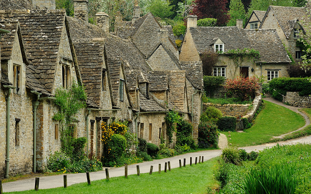 Centuries ago, traders around Europe and beyond knew that the best wool came from the Cotswolds, a fact that made the area very rich, the richest in all of Europe. Arlington Row (pictured) - which was built in the 14th century was made to store wool and was later used for weaving wool - is a testament to that period and wealth.