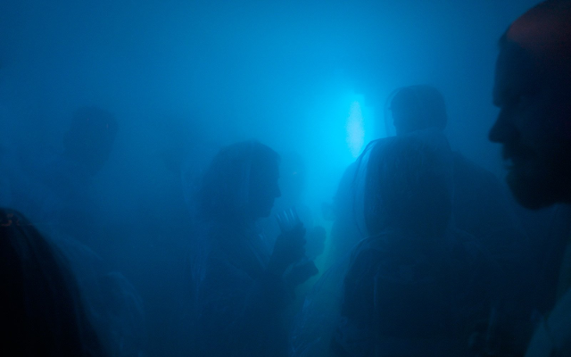 The foggy scene at Alcohol Architecture's breathing booze bar - it's not just drinking that makes you hazy