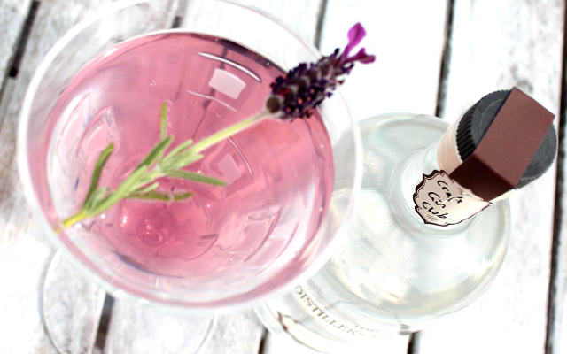 Pink pleasure from August 2015's Gin of the Month, Rock Rose from the Dunnet Bay Distillery and its first Distiller's Edition made with lavender and apple