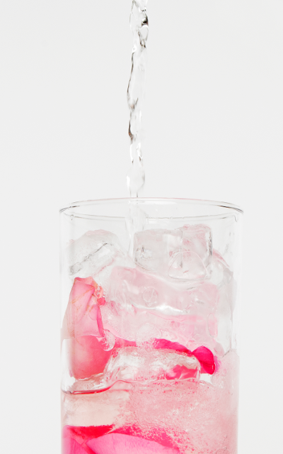 50ml Victoria's Rhubarb Gin Chilled tonic water Ice Pink rose petals Method: Layer the ice and rose petals in a tall glass, and trickle the gin over the top. Top it up with as little or as much tonic water as you like.