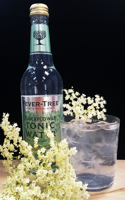 - 1 Part Botanical Gin - 2 Parts Elderflower Tonic - Ice - Garnish with fresh Elderflower