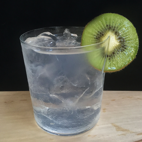 - 1 Part Botanical Gin - 2 Parts Mediterranean Tonic - Ice - Garnish with kiwi
