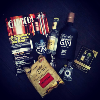 Club Member Jude Macrae Holden took this fab professional shot of September's surprise gin box with Burleigh's Gin.