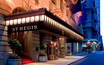 The St. Regis: not a bad place to live and let live.