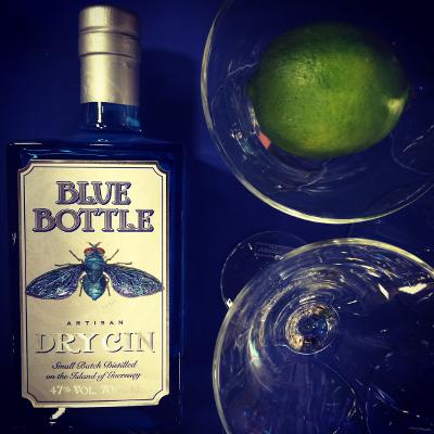 blue bottle dry gin guernsey