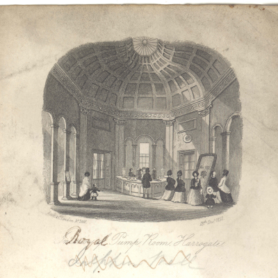 Harrogate's Royal Pump Room in 1852: the perfect place to take the waters, relax, indulge and socialise.