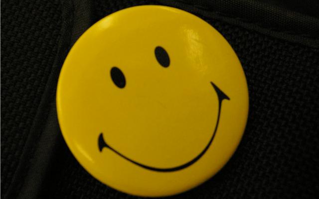 A Smiley pin