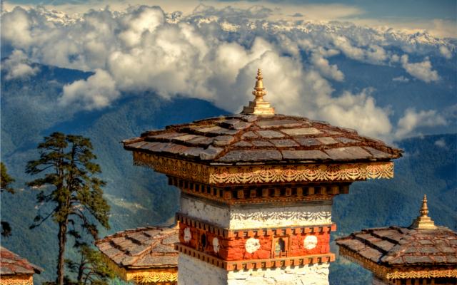 The mountain nation of Bhutan