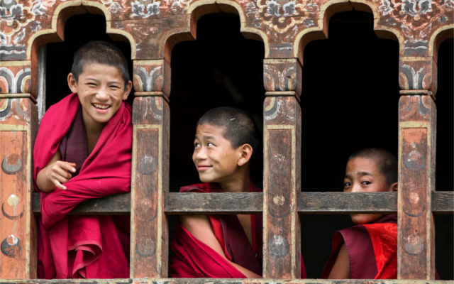 Measuring happiness by smiles in Bhutan