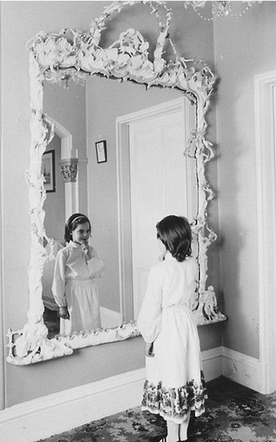 The mirror in the house in Cudnall Street