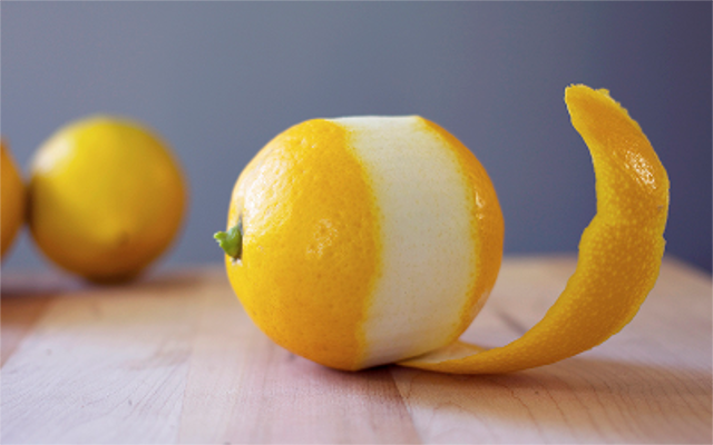 lemon peel botanical