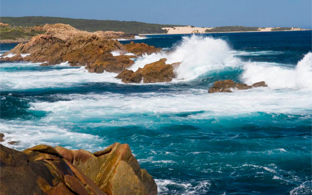 The coastline around The West Winds' home of Margaret River.