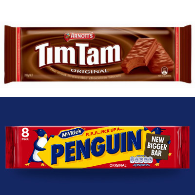 tim tams vs penguins