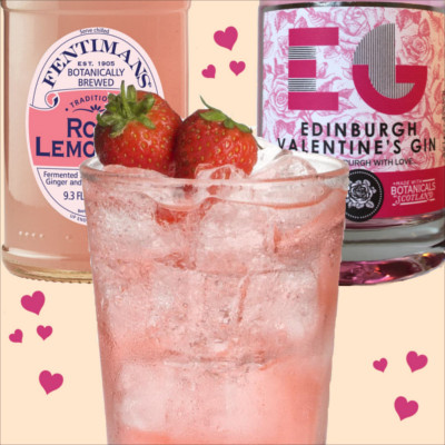 Edinburgh gin valentines rose lemonade fentimans