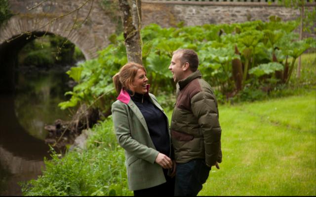 David & Fiona in Rademon Estate's grounds.
