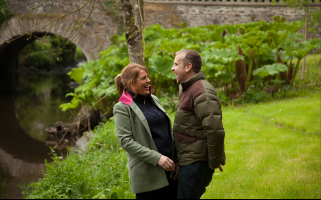 Shortcross co-founders Fiona and David foraging on the Rademon Estate.