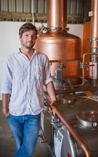Tarquin in his Southwestern Distillery.