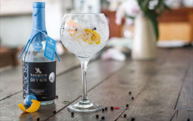 Tarquin's signature Cornish Dry Gin &Tonic.