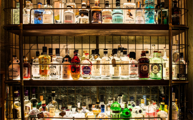 gin shelf holborn gin bar dining room