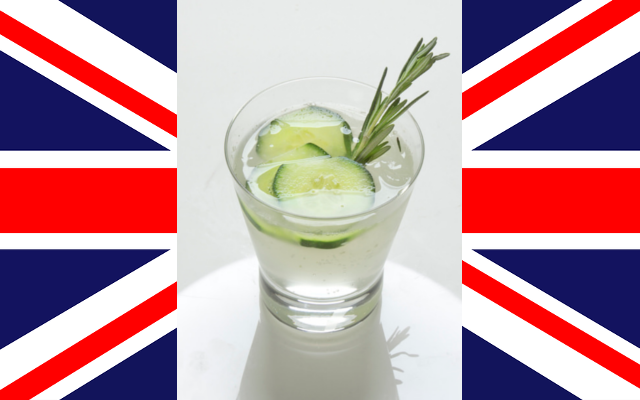 UK English Garden gin cocktail