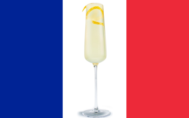 French 75 French cocktail drink fizz