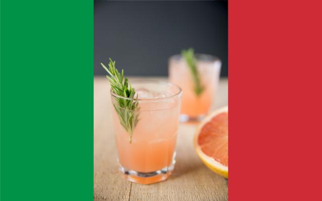 Italian Greyhound Gin cocktail pink grapefruit