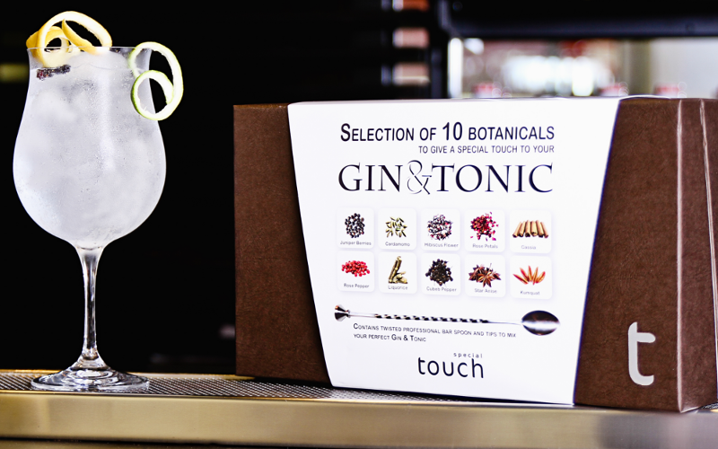 special touch botanicals gin and tonic set