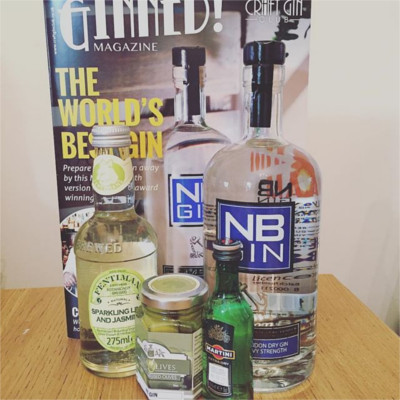 June's NB Gin of the Month box, taken by member Jo Walker.