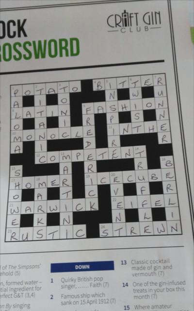crossword gin winner