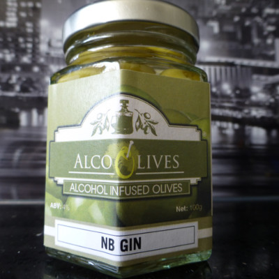 NB Gin alcoholic alcohol infused olives alco olives