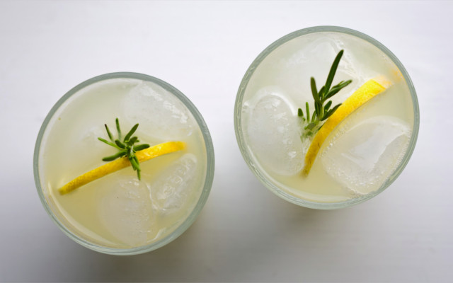 Gin lemonade drink rosemary lemon