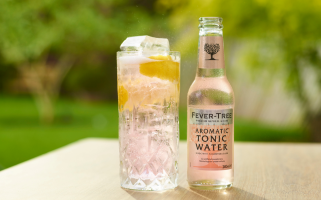 fevertree fever-tree aromatic tonic water pink gin and tonic g&t