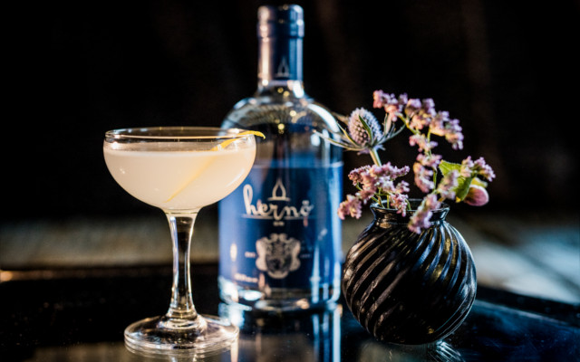 Hernö Gin works beautifully in classic cocktails, like this Aviation.
