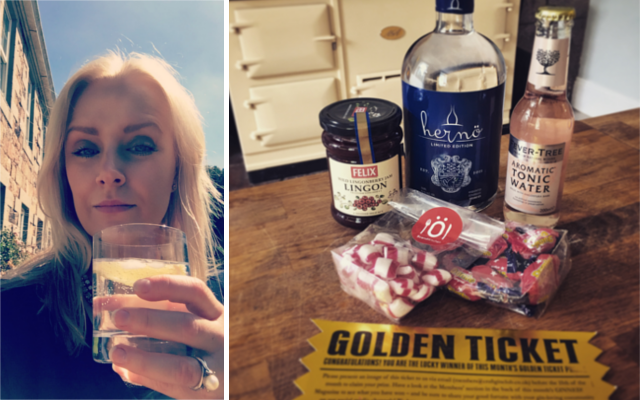 golden ticket winner claire lucky herno gin